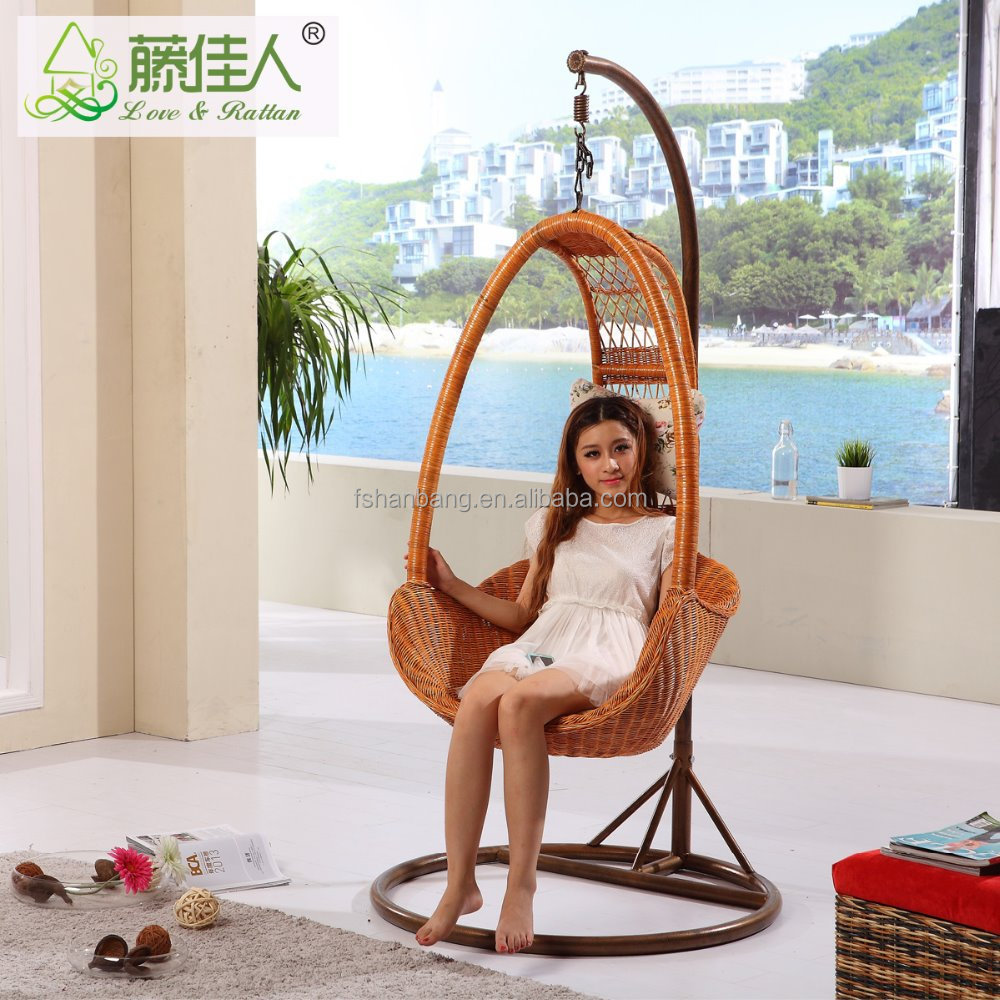 outdoor bamboo swing