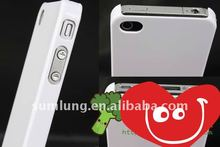 Clear sublimation Cover Case for iPhone 4s 4gs . Untransparent White color