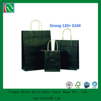2015 Deluxe black paper bags with twist handle