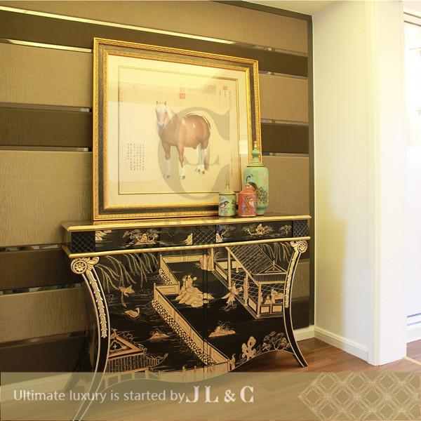 JH Console Table with Hand Drawing in Living Room from JL&C Luxury Home Furniture Latest Designs 2016 (China supplier)