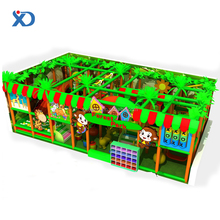 Attractive Amusement Jungle Forest Theme Children Inflatable Indoor Playground With Slides