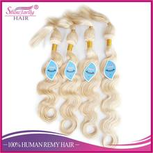 100% virgin human hair bundles machine weft glueless blonde weaves braid no glue no sew in hair extensions