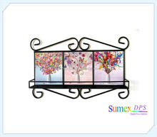 OEM Service Iron Tile Frame with Shelf for Sublimation Printing