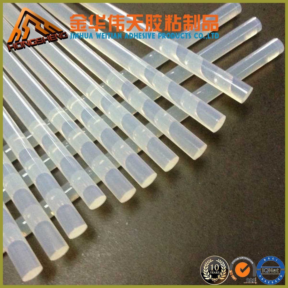 7mm and 11mm most cost effect transparent hot melt silicon glue stick