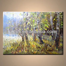 Latest landscape wood oil painting on canvas for sale