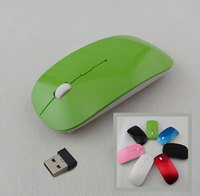 Hot New Optical Wireless 2.4 GHZ Laptop PC Computer Netbook Mouse 4 Keys 1600 dpi High Quality Wheel Mouse Green