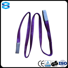 100% polyester flat woven webbing lifting sling