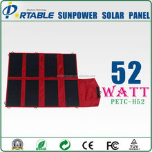 52w Foldable 19v solar rechargeable laptop charger