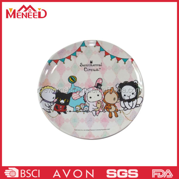 TV shopping item cartoon recycled melamine pizza warming plate