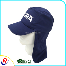 Custom foldable 5 panel navy hats caps neck cover baseball cap travel sunshade outdoor sun protection camping hunting hiking