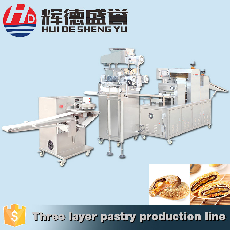 Multifunctional Industrial three layer pastry small automatic encrusting machine to make empanadas
