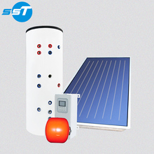 High pressure solar water tank with twin coil stainless steel cylindrical+home energy solar hot water tank