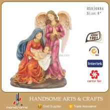 8 Inch Resin Craft Religous Items Home Decoration Guardian Angel and Virgin Mary Jesus Statues