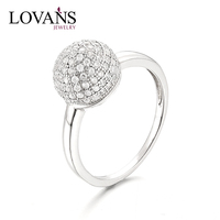 Indian Ring 925 Silver Wedding Ring Zircon Ball Ring LWR0856