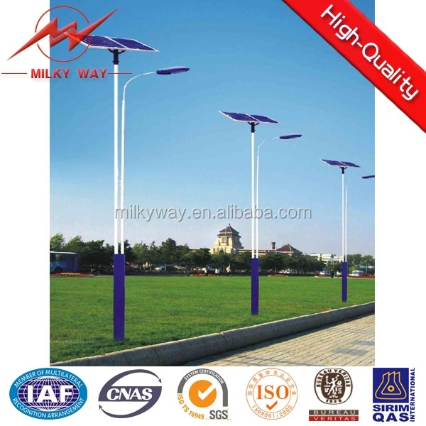 Solar welded wire panels, solar street poles manufacture