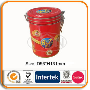 cookie tin packaging box with lock