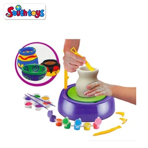 2017 Educational Creative DIY Toy Easy Spin Pottery Wheel Refill Ceramic Machine For Kids
