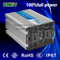 CE RoHS approved 3000w modified wave power inverer dc input 24v ac output 110v/220v with solar panel