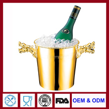 gold plated champagne bucket silver ice chiller silver champagne bucket cooler for bar stainless wine bucket