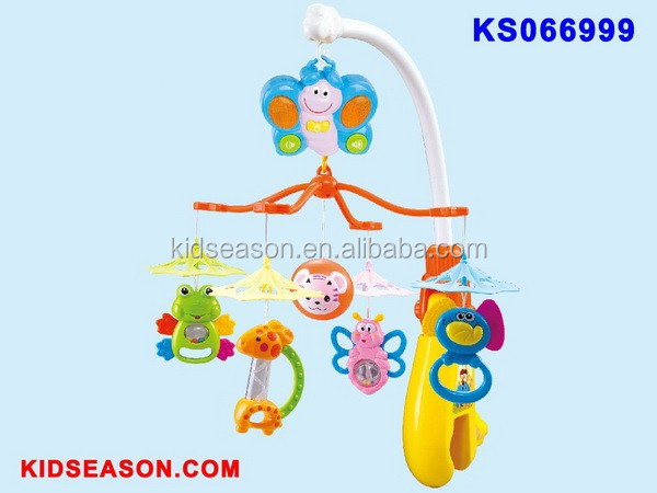 KIDSEASON 2 IN 1 Electric Musical Baby Mobile & Baby Rattle Toys