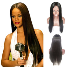 Long Straight Brazilian Lace Front Wigs For Black Women 100 Unprocessed Glueless Full Lace Human Hair Wig