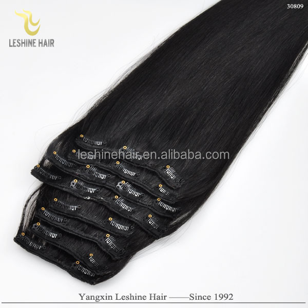 Cheap and high quality 220g remy russian clip in 100 human hair extensions