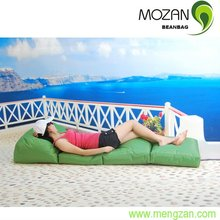 Leisure folding elegant chaise lounge garden beds outdoor lounge waterproof cushions