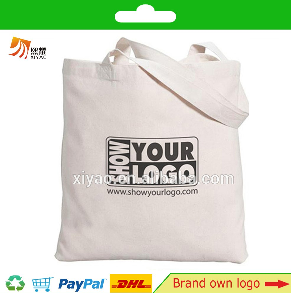 canvas log tote bag with custom print logo 2016 NO.1