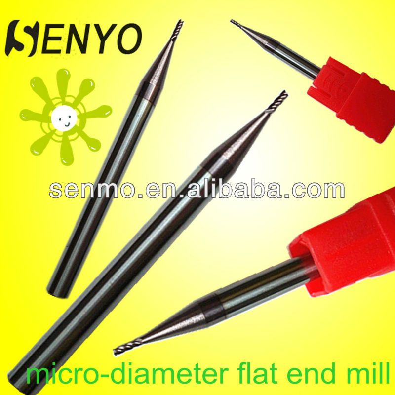 End Mill Cutter Size/CNC Coated Micro-Diameter Miniature Flat End Milling Cutter/Solid Carbide Senyo Lathe Cutting Tools