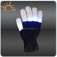 2016 New Design Party favor led finger light gloves/flashing finger ring led toy Cotton led Flashing glove Glow in the dark