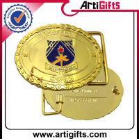 Customize logo metal gold belt buckle wholesaler