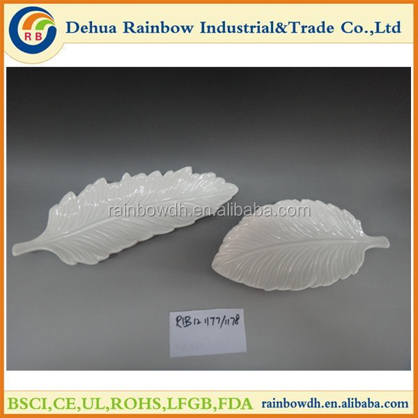Leaf shape plate for tableware