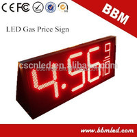 18inch red /yellow /green /white color led digit price display for petrol station