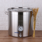 Home Brewing Mash Tun Kettle with thermometer home brew equipment