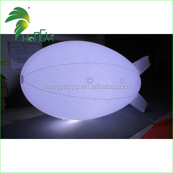 Balloon Type Inflatable Blimp , Led Lighting Inflatable Air Blimp Helium Balloon For Sale