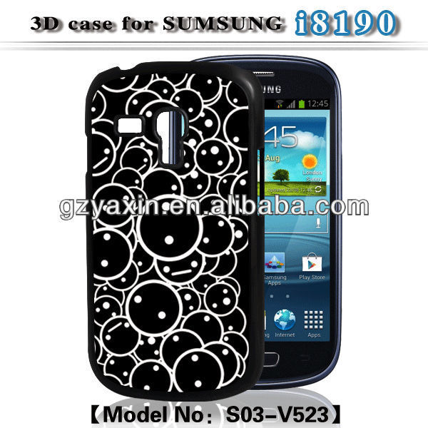 Protective case for samsung galaxy s3 mini,New 3D Sublimation Case For Samsung S3 Mini