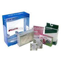 clear printed plastic cosmetic packing box