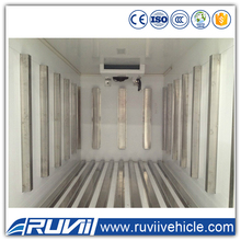 Latest China FOTON 4*2 Refrigerator Truck Thermo King Meat Transportation Cooling Van Truck Small Freezer Truck For Sale