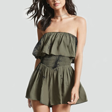 adult women strapless playsuit online clothing store