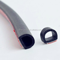 Simple mounting High tensile strength sponge rubber profile
