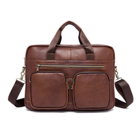 Latest fashion messenger men tote handbag leather laptop bag