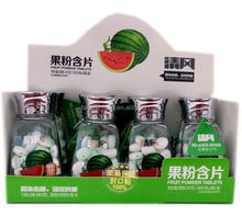 Strong mint flavor tablet candy 38gram with bottles hawthorn watermelon pemelo