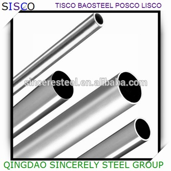 SUS 304 polished stainless steel tube for decoration , mirror finish stainless steel pipe