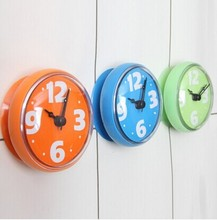 Lovely cheap bathroom outdoor waterproof clock,waterproof clock movements