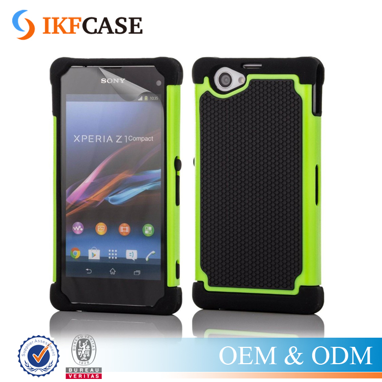 Shockproof Hybrid Armor Rubber Heavy Duty Phone Case For Sony Xperia Z1 Compact D5503