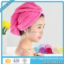 Microfiber hair towel dry hair shower caps custom bathroom hair towel