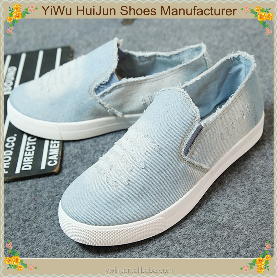 Made in vietnam shose man hollow-carved denim shoes