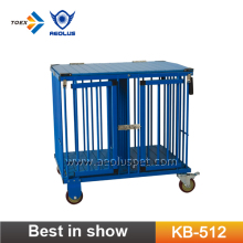 KB-512 Medium Size Portable Pet Dog Show Trolley Cage Pet Carriers Wholesale