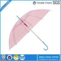 Wholesale one dollar promotion waterproof transparent umbrella