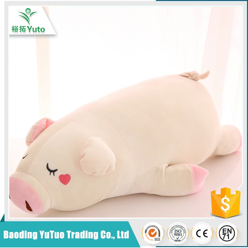 china products promotional economy wholesale plush pink pig